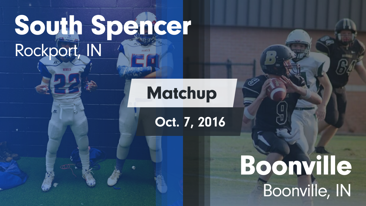 Indiana spencer county rockport - Matchup South Spencer High Vs Boonville 2016